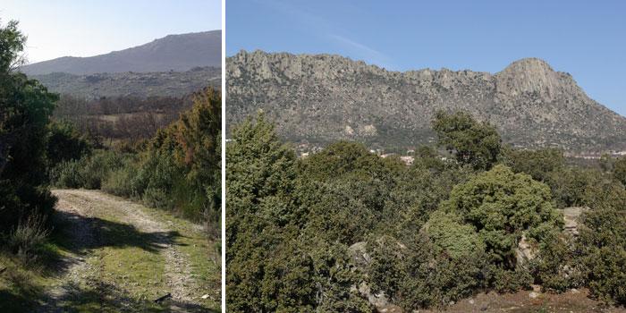 rodeada de senderos y de caminos a pie de montaña