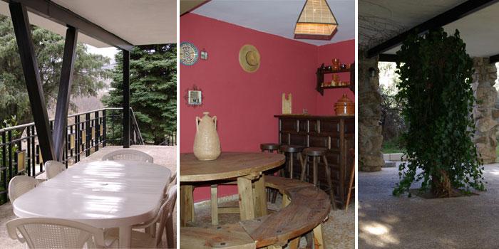 Terraza, bodega y porche