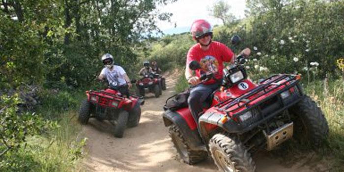 Quad, karts, and zipline routes